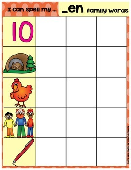 CVC Word Family Building Mats (Differentiated)