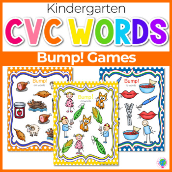CVC Word Family Bump! Games for literacy centers