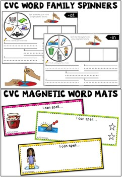 CVC Word Family Bundle - Activities for Literacy Centers