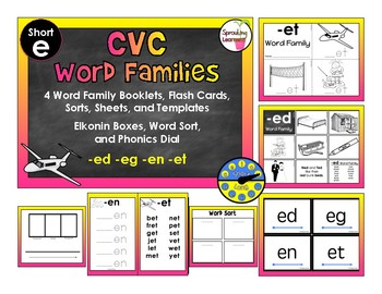 CVC Word Family Bundle - Short e