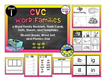 CVC Word Family Bundle - Short i
