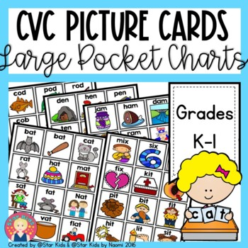 CVC Picture Cards for Kindergarten and First Grade
