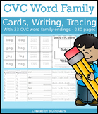 CVC Word Family Cards and Writing