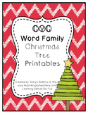 CVC Word Family Christmas Tree Printables