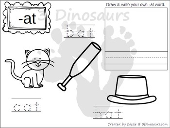 cvc word family coloring pages by 3 dinosaurs teachers pay teachers. Black Bedroom Furniture Sets. Home Design Ideas