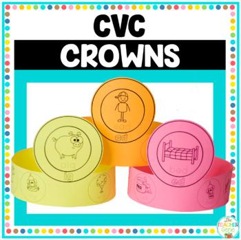CVC Word Family Crowns Activity