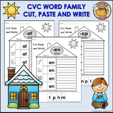 CVC Word Family Cut, Paste & Write