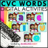 CVC Word Family Digital Bundle Short A E I O U for Google Slides™ and Seesaw™