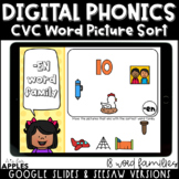 CVC Word Family Digital Phonics Activities | Distance Learning