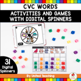 CVC Word Family Digital Spinner Activities (Distance Learning)