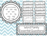 CVC Word Family Essential Question Posters FREE