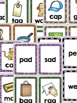 CVC Word Family Flash Cards