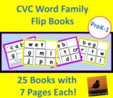 CVC Word Family Flip Books For Phonics Practice