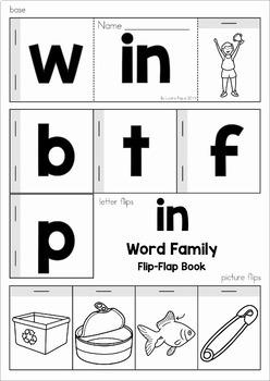 CVC Word Families Flip Flap Books