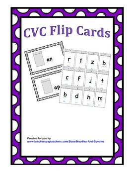 CVC Word Family Flips