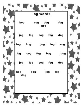 CVC Word Family Fluency