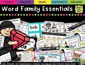CVC Word Family Fluency Essentials: Small Group Resources (Short Vowel O)