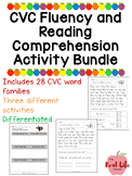 CVC Word Family Fluency Passages and Comprehension Bundle