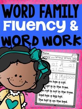 CVC Word Family Fluency and Word Work
