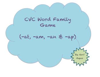 CVC Word Family Game (-at, -am, -an & -ap)