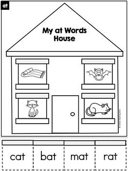 CVC Word Family Houses Bundle