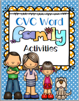 CVC Word Family Houses No Prep Packet