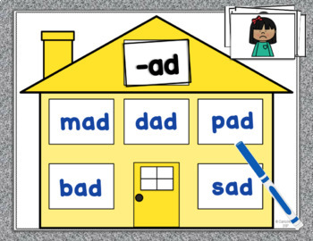 CVC Word Family Houses - Short a Centers!