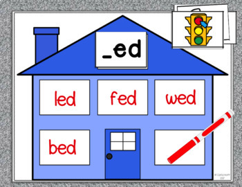 CVC Word Family Houses - Short e Centers!