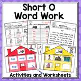 CVC Word Work Centers and Activities for Short O