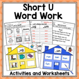 CVC Word Work Centers and Activities for Short U