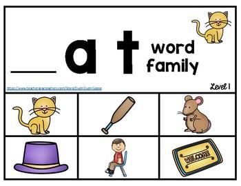 CVC Word Family Book