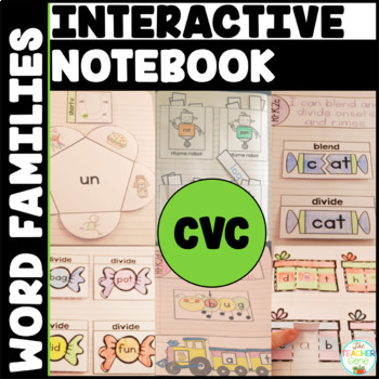 CVC Word Family Interactive Notebook Bundle
