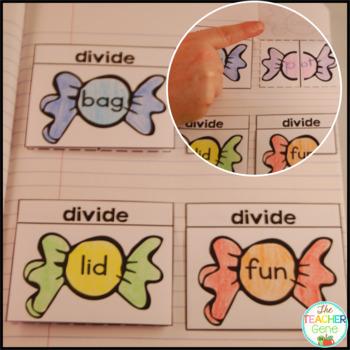 CVC Word Family Interactive Notebook Kindergarten Onset and Rimes {RF.K.2c}