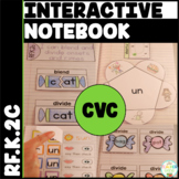 CVC Word Family Interactive Notebook Kindergarten Onset and Rimes {RF.K.2c}