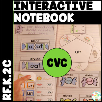 CVC Word Family Interactive Notebook Kindergarten Onset an