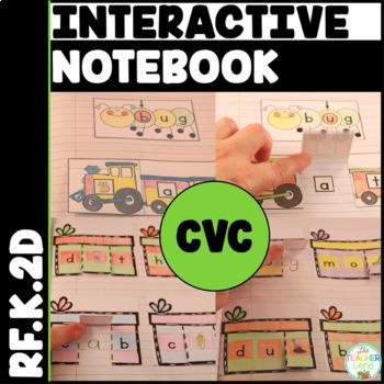 CVC Interactive Notebook Kindergarten Initial, Medial & Final Sounds {RF.K.2d}
