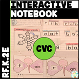 CVC Word Family Interactive Notebook Kindergarten Changing Sounds {RF.K.2e}