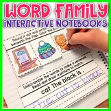 CVC Word Family Interactive Notebooks Kindergarten