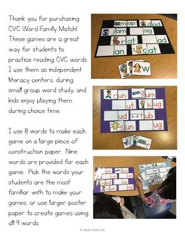 CVC Word Family Match!