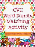CVC Word Family Matching Activity