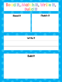 CVC Word Family Mats and Cards. Preschool-Kindergarten Wor