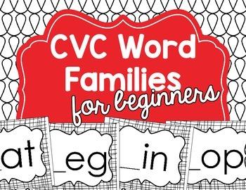 CVC Word Family Mats for Beginners