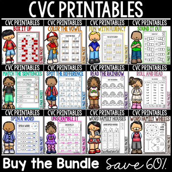 CVC Printables Mega Bundle-12 Packets Included