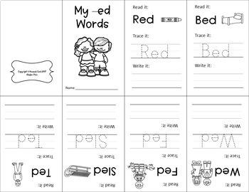 CVC Word Family Mini Books- Short E Set