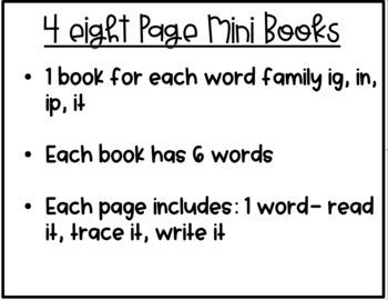CVC Word Family Mini Books- Short I Set