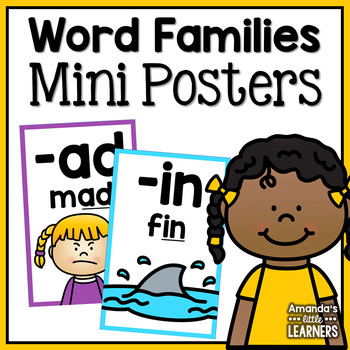 CVC Word Family Mini Posters or Flashcards