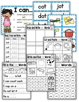 CVC Word Family OT Worksheets