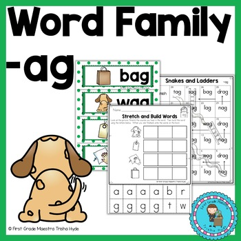 Short Vowel A  Word Family Packet Word Family AG