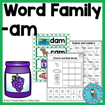CVC Word Family Packet Word Family AM