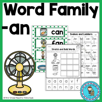 Word Family AN Word Work